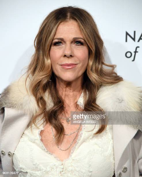 Actress Rita Wilson attends the 2018 National Board of Review Awards Gala at Cipriani 42nd Street on January 9 2018 in New York City / AFP PHOTO /...