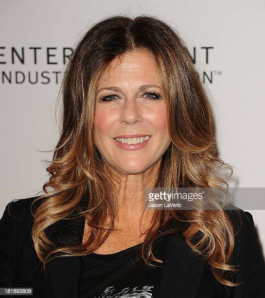 Actress Rita Wilson attends the 23rd annual Simply Shakespeare benefit reading of The Two Gentlemen of Verona at The Eli and Edythe Broad Stage on...