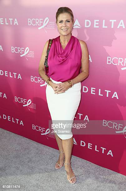Actress Rita Wilson attends the Breast Cancer One dinner hosted by Delta Air Lines and The Breast Cancer Research Foundation on September 27 2016 in...