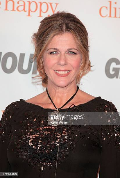 Actress Rita Wilson attends the Glamour Reel Moments party held at the Directors Guild of America on October 9 2007 in Hollywood California The...