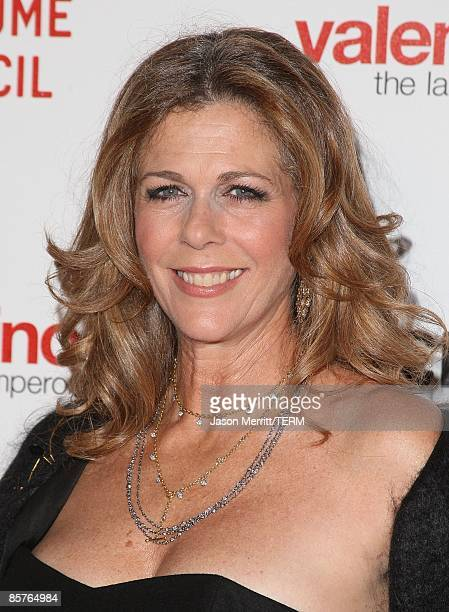 Actress Rita Wilson attends the Los Angeles premiere of Valentino The Last Emperor at the Bing Theatre at LACMA on April 1 2009 in Los Angeles...