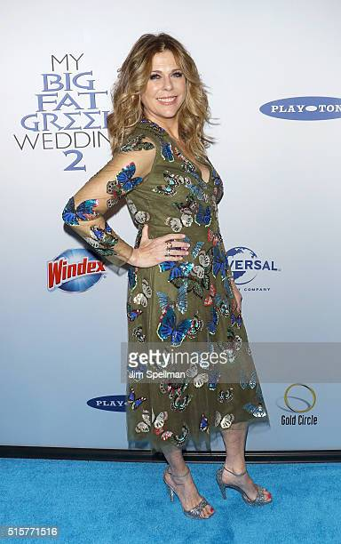 Actress Rita Wilson attends the My Big Fat Greek Wedding 2 New York premiere at AMC Loews Lincoln Square 13 theater on March 15 2016 in New York City