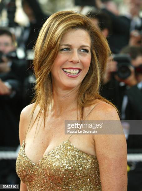 """Actress Rita Wilson attends the screening of the film """"The Ladykillers"""" at the Palais des Festivals during the 57th International Cannes Film..."""