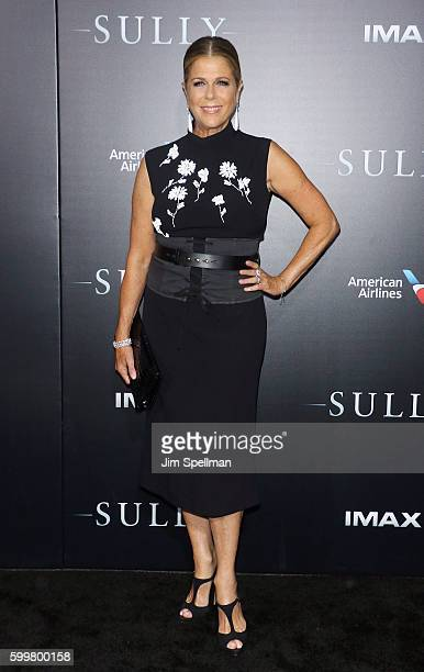 """Actress Rita Wilson attends the """"Sully"""" New York premiere at Alice Tully Hall, Lincoln Center on September 6, 2016 in New York City."""