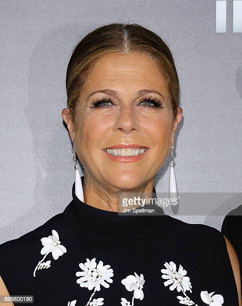 Actress Rita Wilson attends the Sully New York premiere at Alice Tully Hall Lincoln Center on September 6 2016 in New York City