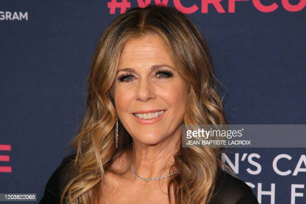 US actress Rita Wilson attends the Women's Cancer Research Fund's An Unforgettable Evening benefit gala at the Beverly Wilshire Hotel in Beverly...