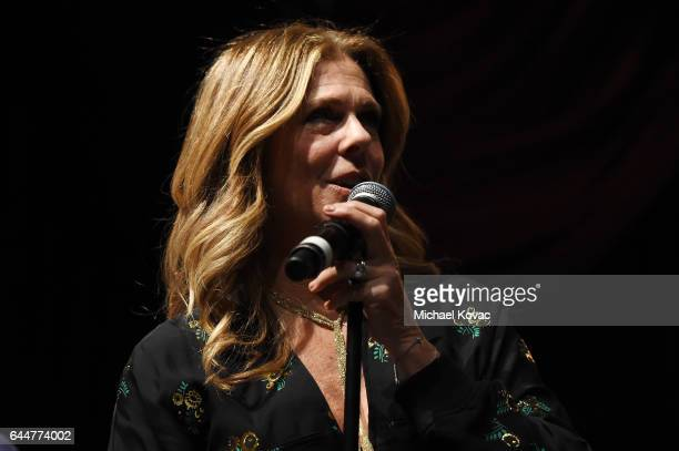 Actress Rita Wilson performs at BOVET 1822 Artists for Peace and Justice Present Songs From the Cinema Benefit on February 23 2017 in Los Angeles...