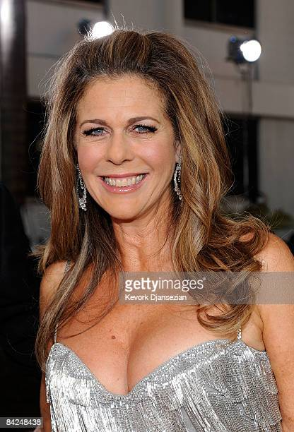 Actress Rita Wilson poses at the 66th Annual Golden Globe Awards held at the Beverly Hilton Hotel on January 11 2009 in Beverly Hills California