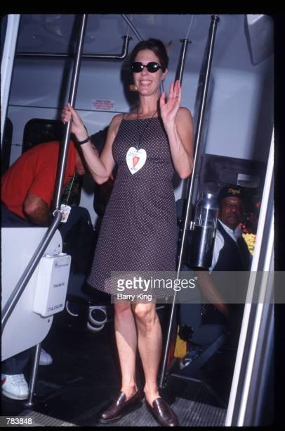 Actress Rita Wilson poses at the Pediatric AIDS Foundation Fundaiser June 9 1996 in Los Angeles CA The Pediatric AIDS Foundation funds basic medical...