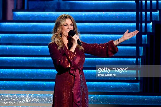 Actress Rita Wilson presents onstage during the 52nd annual CMA Awards at the Bridgestone Arena on November 14 2018 in Nashville Tennessee