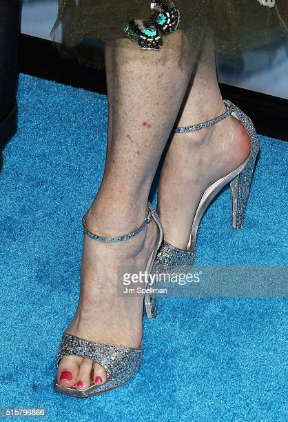 Actress Rita Wilson shoe detail attends the My Big Fat Greek Wedding 2 New York premiere at AMC Loews Lincoln Square 13 theater on March 15 2016 in...