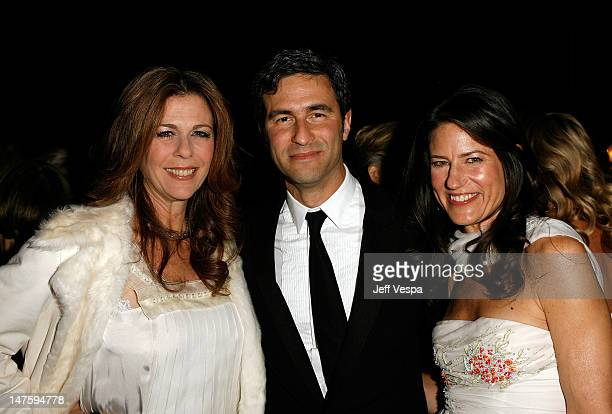 Actress Rita Wilson stands with the Director of the Los Angeles County Museum of Art Michael Govan and his wife Katherine Ross at LACMA's Opening...