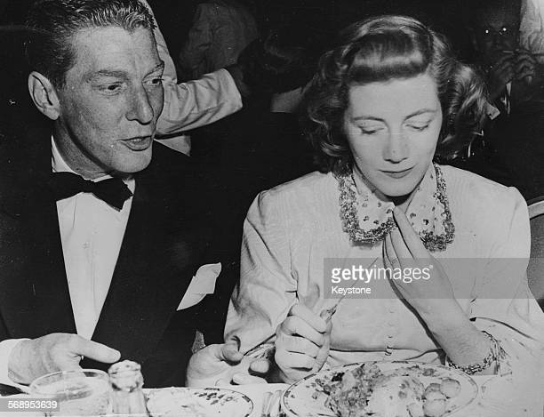 Actress Robert Thompson and producer Sarah Churchill dining together in Hollywood CA circa 1960