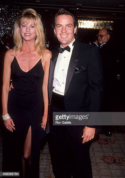Actress Roberta Leighton and husband actor Corey Young attend the 34th Annual Thalians Ball on October 28 1989 at the Century Plaza Hotel in Century...