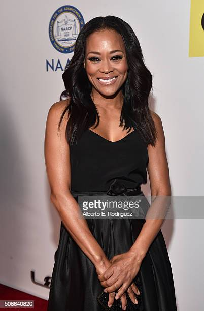 Actress Robin Givens attends the 47th NAACP Image Awards presented by TV One at Pasadena Civic Auditorium on February 5 2016 in Pasadena California