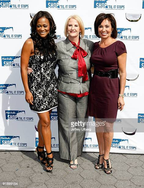 Actress Robin Givens The National Domestic Violence Hotline's Sheryl Cates and Judge Jeanine Pirro promote Domestic Violence Awareness Month in Union...