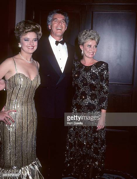 Actress Robin Mattson actor Jed Allan and actress Judith McConnell attend the 13th Annual Daytime Emmy Awards on July 17 1986 at the WaldorfAstoria...