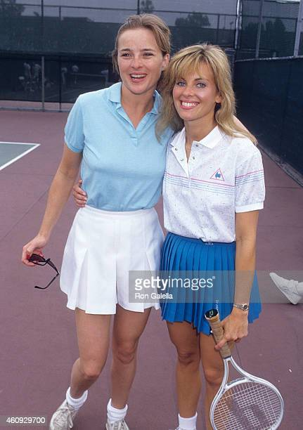 Actress Robin Mattson and actress Elissa Leeds attend the Third Annual MakeAWish Celebrity Sports Fesitval on May 9 1987 at La Casa De Vida in...