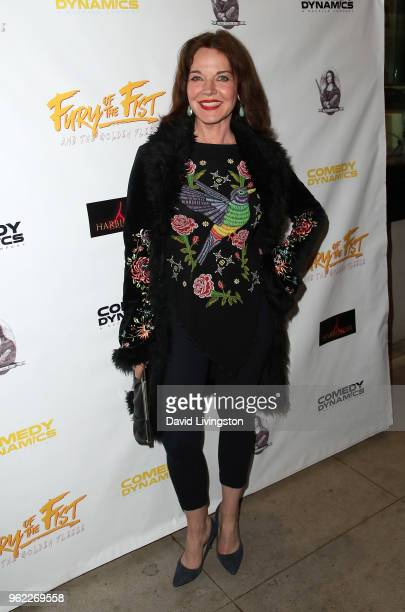 Actress Robin Riker attends the premiere of Comedy Dynamics' The Fury of the Fist and the Golden Fleece at Laemmle's Music Hall 3 on May 24 2018 in...