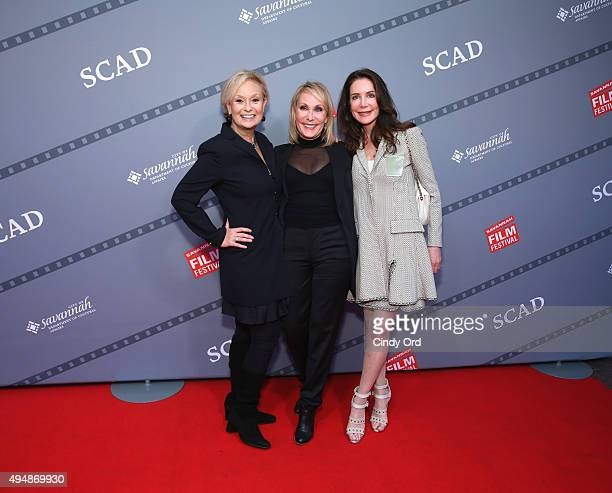 Actress Robin Skye Producer Janet Brenner and Actress Lois Robbins attend Meg Ryan's Lifetime Award Presentation and Ithaca screening during 18th...