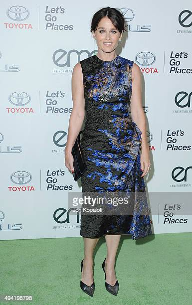 Actress Robin Tunney arrives at Environmental Media Association Hosts Its 25th Annual EMA Awards Presented By Toyota And Lexus at Warner Bros Studios...