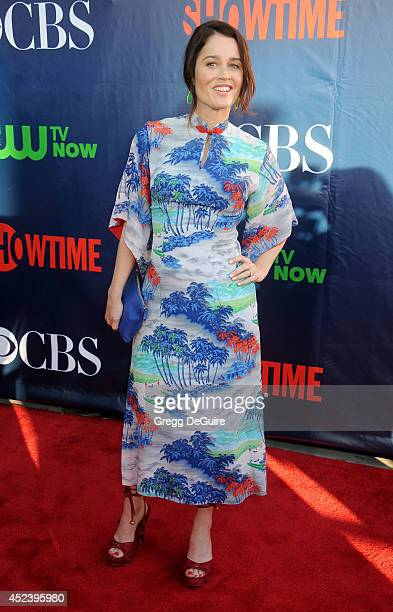 Actress Robin Tunney arrives at the 2014 Television Critics Association Summer Press Tour CBS CW And Showtime Party at Pacific Design Center on July...