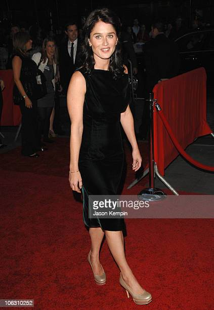 Actress Robin Tunney arrives at the premiere of 'The Assassination Of Jesse James' at the Ziegfeld Theater on September 18 2007 in New York City
