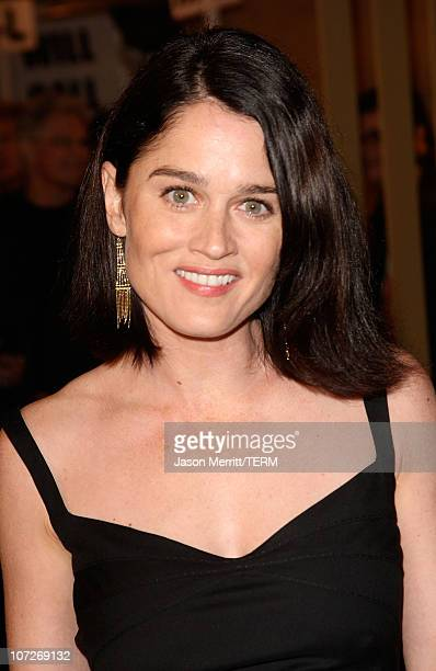 Actress Robin Tunney arrives at the Snow Angels Los Angeles Premiere at The Egyptian Theater on February 28 2008 in Los Angeles California
