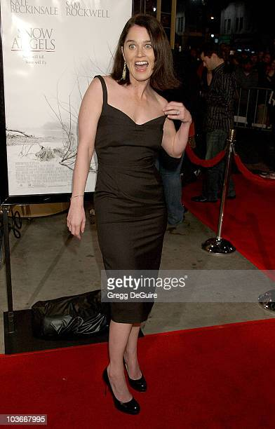 Actress Robin Tunney arrives at the Snow Angels premiere at The Egyptian Theater on February 28 2008 in Hollywood California