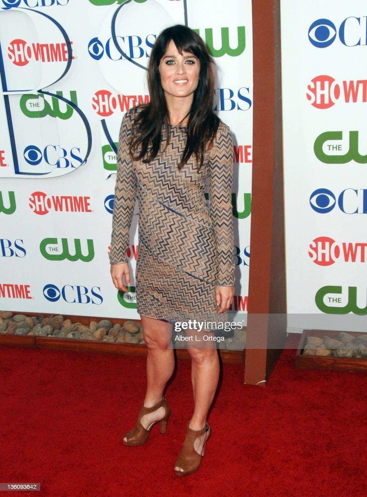 Robin Tunney Photos Photos - Stars Attend the CW, CBS and