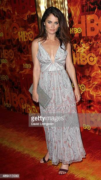 Actress Robin Tunney attends HBO's Official 2015 Emmy After Party at The Plaza at the Pacific Design Center on September 20 2015 in Los Angeles...
