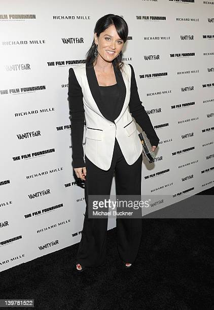 Actress Robin Tunney attends the Vanity Fair and Richard Mille celebration of Martin Scorsese in support of The Film Foundation at Hotel BelAir on...