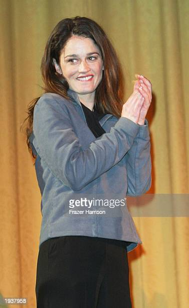 Actress Robin Tunney star of 'The secret Lives of Dentists' attends the San Francisco Film Festival at the Castro Theatre April 17 2003 in San...