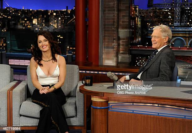 Actress Robin Tunney talks about the final season of the CBS drama series The Mentalist on the Late Show with David Letterman Tuesday Feb 3 2015 on...