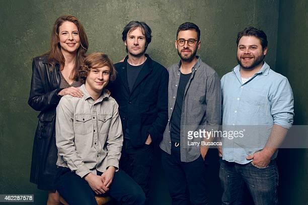 Actress Robin Weigert actor Logan Miller actor Josh Hamilton director/writer/producer Matt Sobel and executive producer Nick Case of Take Me to the...