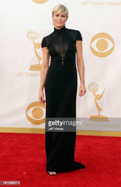 Actress Robin Wright arrives at the 65th Annual Primetime Emmy Awards held at Nokia Theatre L.A. Live on September 22, 2013 in Los Angeles,...