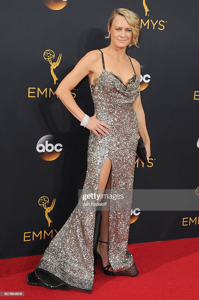 Actress Robin Wright arrives at the 68th Annual Primetime Emmy Awards at Microsoft Theater on September 18, 2016 in Los Angeles, California.