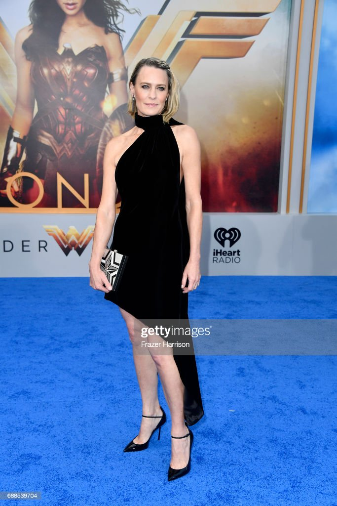Actress Robin Wright arrives at the Premiere Of Warner Bros. Pictures' 'Wonder Woman' at the Pantages Theatre on May 25, 2017 in Hollywood, California.