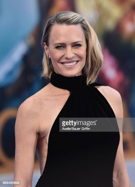 Actress Robin Wright arrives at the premiere of Warner Bros. Pictures' 'Wonder Woman' at the Pantages Theatre on May 25, 2017 in Hollywood,...