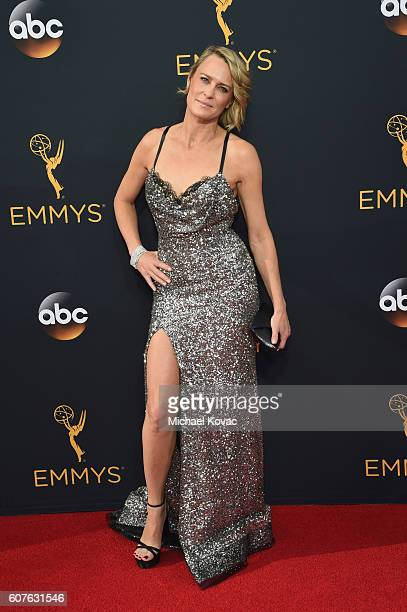 Actress Robin Wright attends 68th Annual Primetime Emmy Awards at Microsoft Theater on September 18 2016 in Los Angeles California