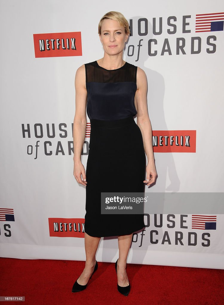 Actress Robin Wright attends a Q&A for 'House Of Cards' at Leonard H. Goldenson Theatre on April 25, 2013 in North Hollywood, California.