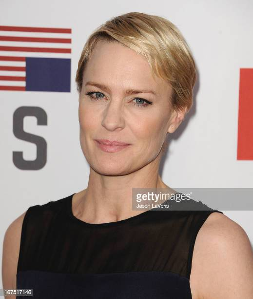 """Actress Robin Wright attends a Q&A for """"House Of Cards"""" at Leonard H. Goldenson Theatre on April 25, 2013 in North Hollywood, California."""