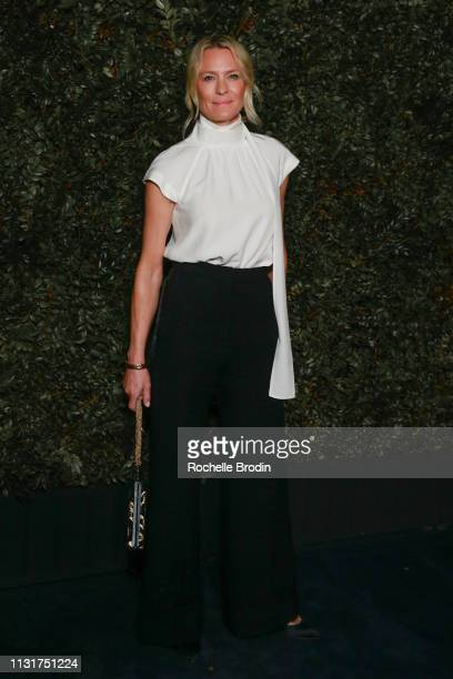 Actress Robin Wright attends Charles Finch And CHANEL's 11th Annual PreOscar Awards Dinner at Polo Lounge at The Beverly Hills Hotel on February 23...