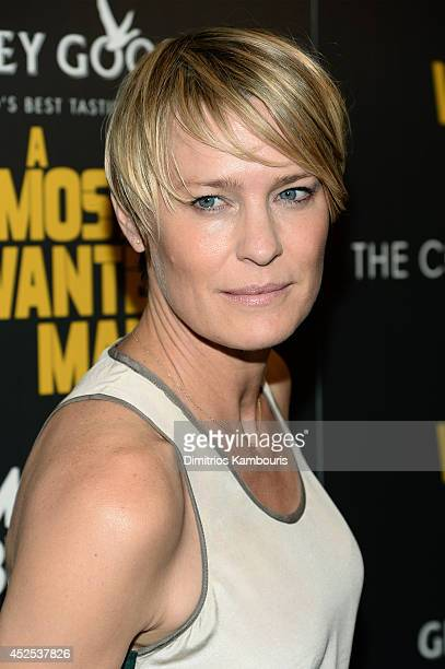 Actress Robin Wright attends Lionsgate and Roadside Attraction's premiere of A Most Wanted Man hosted by The Cinema Society and Montblanc at the...