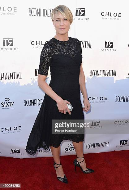 Actress Robin Wright attends Los Angeles Confidential Magazine and Cover Star Robin Wright Celebrate The Magazine's Women Of Influence Issue at SIXTY...
