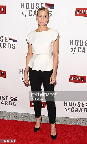 """Actress Robin Wright attends Netflix's """"House Of Cards"""" Washington DC Screening at the NEWSEUM on January 29, 2013 in Washington, DC."""