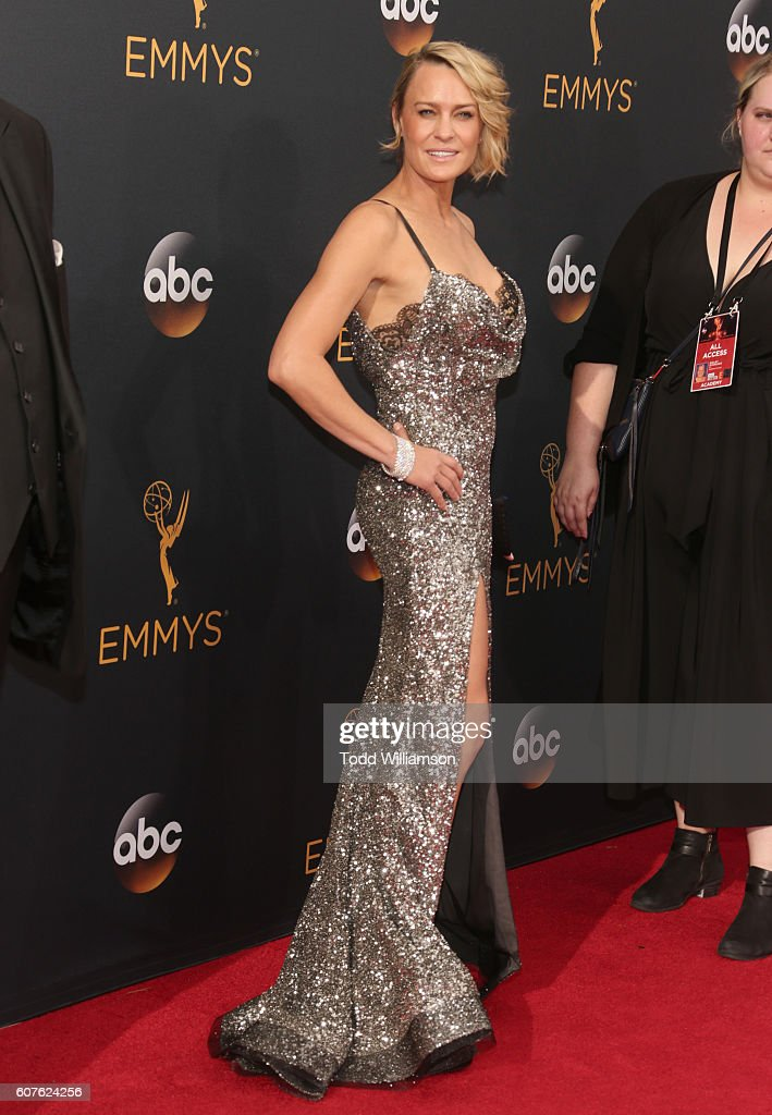 Actress Robin Wright attends the 68th Annual Primetime Emmy Awards at Microsoft Theater on September 18, 2016 in Los Angeles, California.