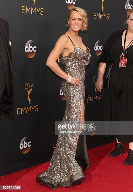 Actress Robin Wright attends the 68th Annual Primetime Emmy Awards at Microsoft Theater on September 18 2016 in Los Angeles California