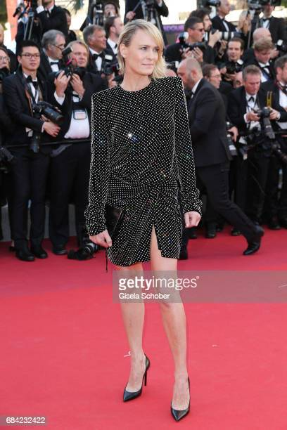 Actress Robin Wright attends the 'Ismael's Ghosts ' screening and Opening Gala during the 70th annual Cannes Film Festival at Palais des Festivals on...