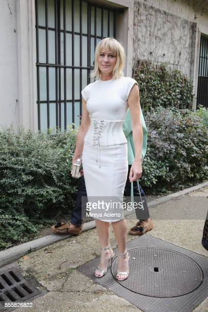 Actress Robin Wright attends the Mugler show as part of the Paris Fashion Week Womenswear Spring/Summer 2018 on September 30 2017 in Paris France
